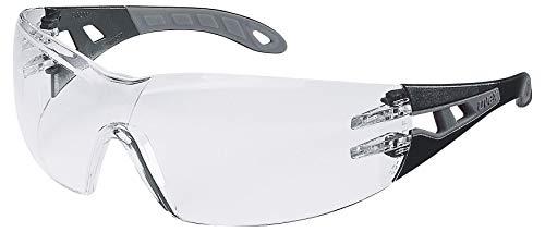 Uvex Pheos Schutzbrille - Supravision Extreme - Transparent/Schwarz-Grau
