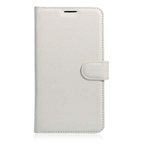 Sangrl Leder Lederhülle Schutzhülle Für LG K5, Wallet Tasche Für LG K5, mit Halterungsfunktion Kartenfächer Flip Hülle Weiß