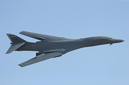 Gifts Delight Laminated 36x24 Poster: B-1, Lancer, Supersonic, Strategic Bomber, Rockwell, U.S. Air Force, Boeing, Military