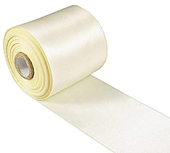 Q-YO Sparkle/Satin/Grosgrain/Autism Ribbon for Dance Floral Designs Gift Wrapping Sewing..  20yd 3  Satin Ribbon-Ivory