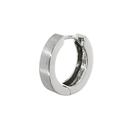 NKlaus enkel 1 del 925 sterling silver gångjärn kreol matt blank 13 mm fläckbeständig 4786