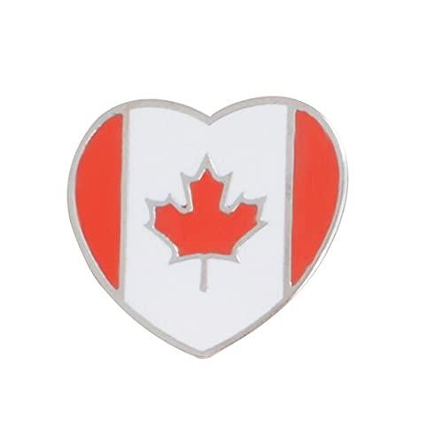 Moda Nacional Banderas Broches De América Italia Alemán Canadá Arce Estrella Bandera Denim Bolsa Pins Accesorios Regalos Para Amigos