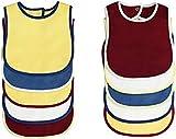 Baberos BornCare de 3 capas impermeables para bebés de 6 a 24 meses, baberos súper absorbentes con broche para babear y dentición, 100% algodón 13 x 9, set de regalo para baby shower