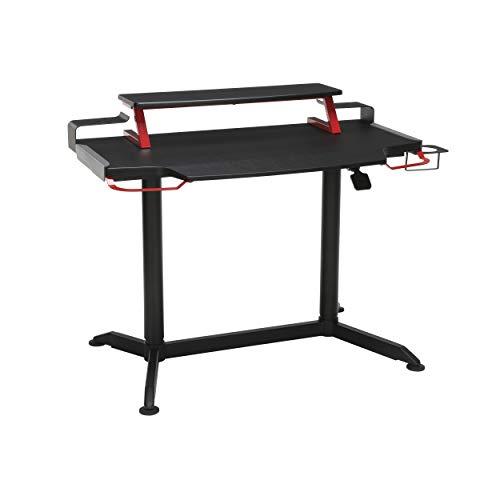 RESPAWN 3000 Gaming Computer Desk - Ergonomic Height Adjustable Gaming Desk, in Red