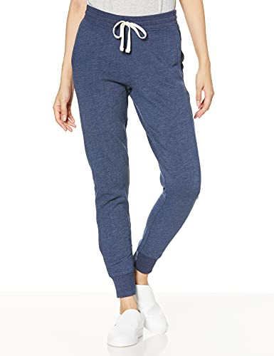 Amazon Essentials Women's Relaxed Fit Fleece Jogger Sweatpant, Navy Heather, X-Large