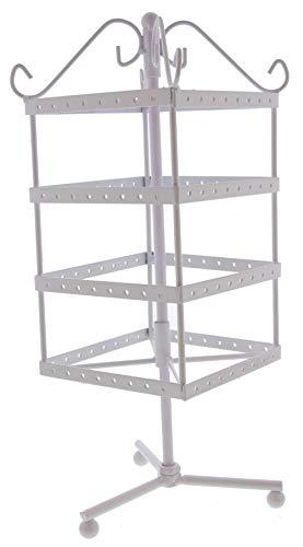 Dielay zwenkmolen voor sieraden vierkante oorbellen frame 4 lagen metaal 32x11 cm