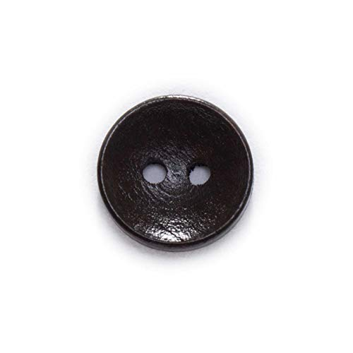EQVUDJT Ropa de Bricolaje 2 Agujeros Botones de Madera sólidos Costura Scrapbook Ropa Artesanía Regalo Chaqueta Blazer Suéteres Accesorios para el Trabajo Artificial 10-25mm para Hombres Mujeres