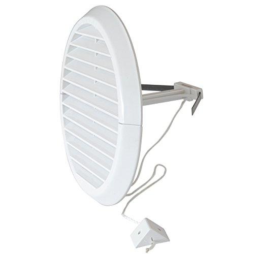 La Ventilazione DFR140X Griglia di Ventilazione in Plastica Pieghevole, diametro 170 mm