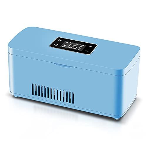 WDAA Enfriador de Insulina Portátil, Refrigerador para Medicamentos, Mini Caja Refrigerada para Medicina, Espacio de Refrigeración de Carga USB para Coche, 200X65X35mm