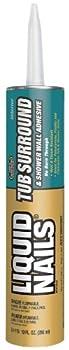 Liquid Nails - LN715 LIQUID NAILS LN-715 Tub Surround and Shower Adhesive  Low VOC   10-Ounce