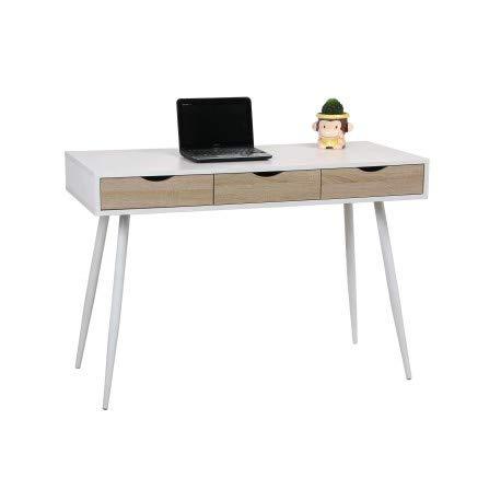 Tavolo da studio, 110 x 50 cm, con cassetti mes122002-DESKandSIT-110 cm