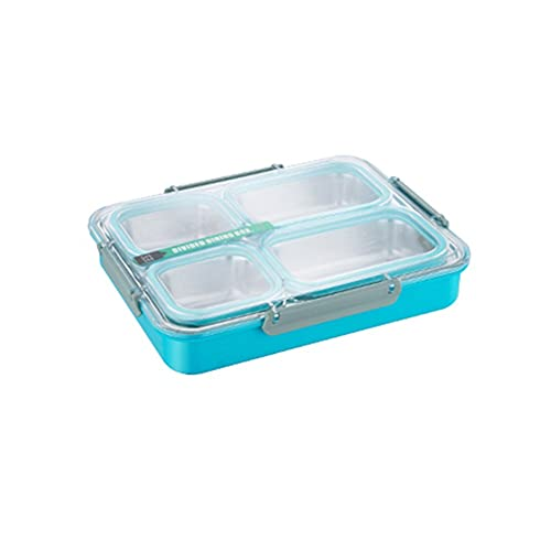 JZUKU Lunch Box kids Grid Stainless Steel Lunch Box Leak-proof Portable Lunch Box Simple Design Lunch Box Lunchbox With Compartment (Size : 1.8L)