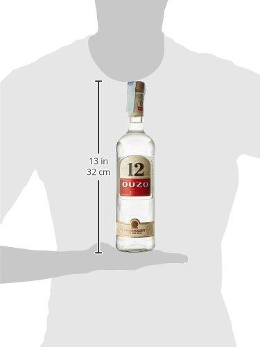 Ouzo Liquore Tradizionale Greco Aromatizzato con Anice, Finocchio e Spezie, 38% Vol, Bottiglia in Vetro da 70 cl