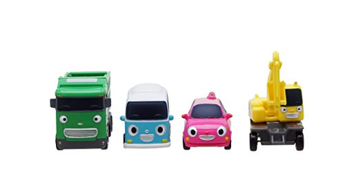 Tayo The Little Bus Tayo Friends Special 4Pcs Mini Car Set II : Korean Gemacht TV Zeichentrick-Spielzeug (Max + Poco + Heart + BongBong)
