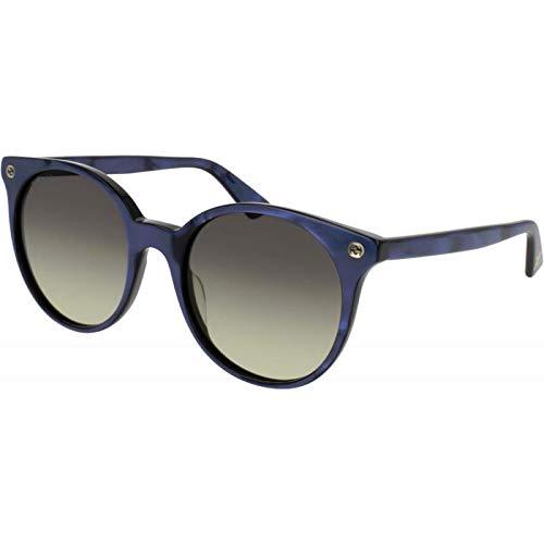 Gucci GG0091S-005 gafas de sol, Azul, 52.0 para Hombre