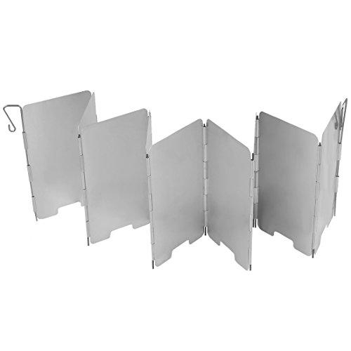 Uni Coco Outdoor Camping Plegable de Aluminio–Paravientos para hornillo de Gas con láminas de 9de Ultra