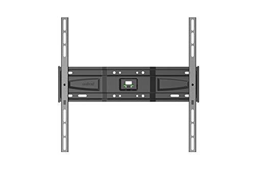 Meliconi Slimstyle Plus 400 S - Supporto Fisso Ultra Sottile da Parete per Tv a Schermo Piatto Da 40'' a 82'' (102-208 cm), Portata max 50kg, Vesa 200X200, 300X300,400X400, Nero