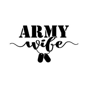 Army Wife Dog Tags NOK Decal Vinyl Sticker |Cars Trucks Vans Walls Laptop|Black|6.2 x 3.5 in|NOK1312