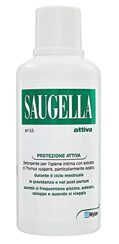 Saugella, Protezione Attiva, Detergente per Ligiene Intima, a Base di Thymus Vulgaris, 500 ml