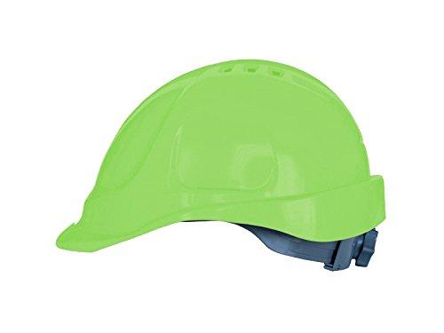 Casco de obra, Casco de protección, con cinta de sujeción, tamaño ajustable, EN397, Casco de Trabajo, Casco de Construcción (Verde)