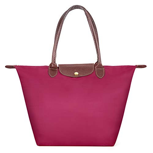 Meersee Shopper Tasche, Wasserdichtes Nylon Shopper Schultertasche Umhängetasche Damen Handtasche Tote Tasche
