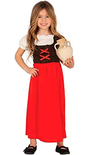 Guirca Disfraz de Posadera Roja para Niña
