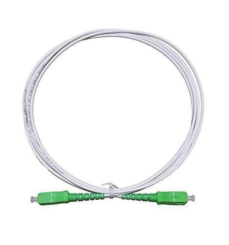 Câble Fibre Optique Prémium Box Orange, Sosh, SFR, Red, Bouygues, Haute Qualité Souple et Renforcé Blanc avec Connecteurs SC/APC-SC/APC (2 M)