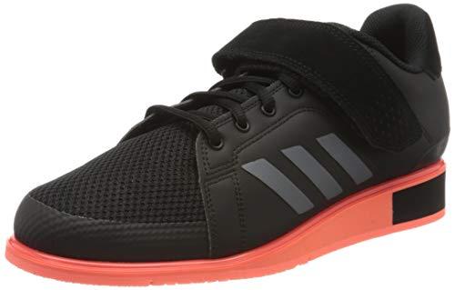 adidas Men's Power Perfect Iii. Sneaker, Core Black/Night Met./Signal Coral, 3.5 UK