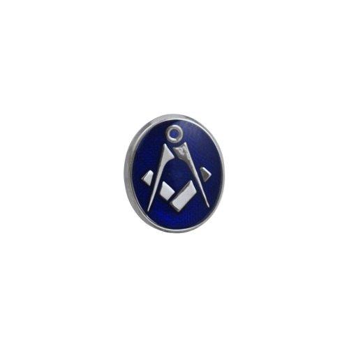 Plaqué rhodium 12x10mm ovale émail polymérisation à froid maçonnique épingle à cravate