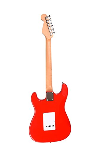 Juarez JRZ-ST02 6-String Electric Guitar, Right Handed, Red, with Case/Bag and...