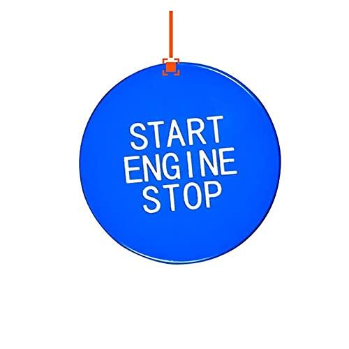 YFQH Compatible con BMW Serie 3 G20 G05 G06 G07 G14 G29 F40 F44 Botón de cambio de coche Piezas de repuesto (Nombre del color: Botón de inicio) Azul