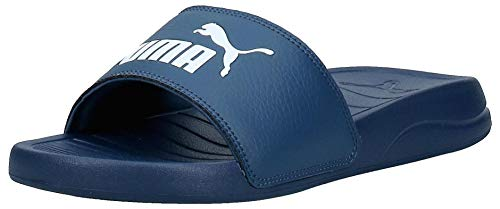 PUMA Popcat 20, Zapatos de Playa y Piscina Unisex Adulto, Azul (Dark Denim White), 42 EU