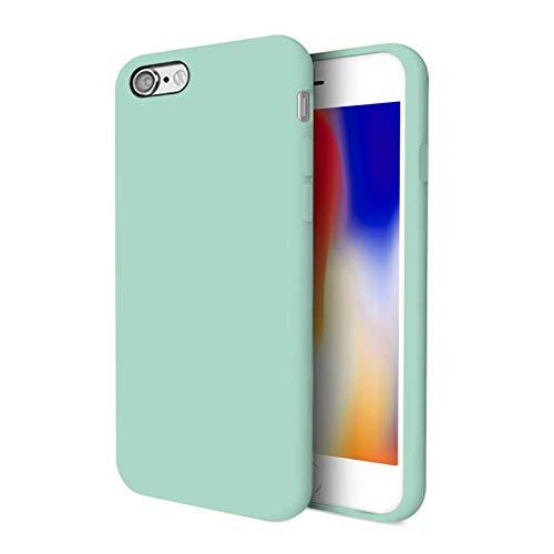 TBOC Funda para Apple iPhone SE (2020) [4.7'] - Carcasa Rígida [Turquesa] Silicona Líquida Premium [Tacto Suave] Forro Interior Microfibra [Protege la Cámara] Antideslizante Resistente Suciedad