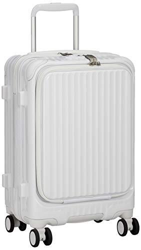 [カーゴ] スーツケース 機内持込サイズ スリムフロントオープン 多機能モデル CAT532LY 保証付 35L 48 cm 3.4kg グロスホワイト