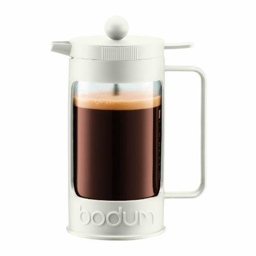 Bodum BEAN Kaffeebereiter für 3 Tassen (Press Filter System, Isoliert, Auslaufschutz, 0,35 liters) cremefarben