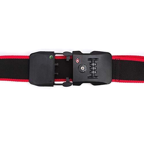 NK Cinturón Equipaje Seguridad Antirrobo - Bluetooth 4.0, Rango Anti-Pérdida (15m), Combinación Cerradura, Compatible iOS/Android, App Incluida, Peso Ligero