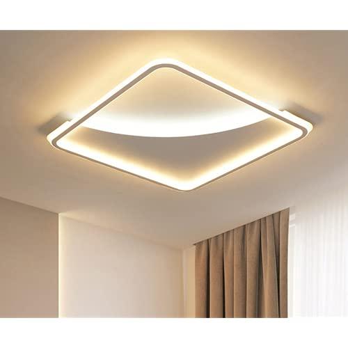 Led Lámpara De Techo Sala De Estar,Plafon De Techo Para Dormitorio,Lámparas Minimalistas Modernas Atmosféricas. 3012 Cuadrado 50,50 Cm Luz Tricolor, Regulable