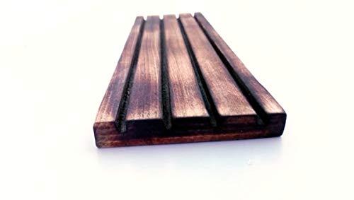 Kalifaks Holz-Arbeitsplatz-Organizer, Lineal, Schablonenregal, Quilt-Gitterhalter, dunkel rauchige Buche 25 cm x 8 cm