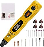 Ginour 3.7V Cordless Rotary Tool, 3 Speed Adjustment with 32-Piece Rotary Accessory Kit, Collet Size...