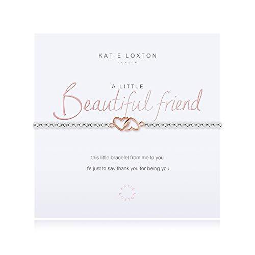 Katie Loxton A Little Beautiful Friend Silver Women's Stretch Adjustable Charm Bangle Bracelet