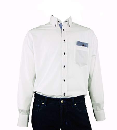 DIGEL Hemd Gerald-B in Weiß mit Einstecktuch, Chambray, Größe: 44