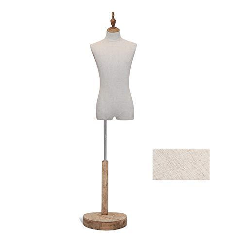 CHAXIA-Mannequins Mâle Accessoires De Modèle pour des Hommes Mannequin Présentoir Base Ronde, Facile À Installer, 3 Styles (Color : B)