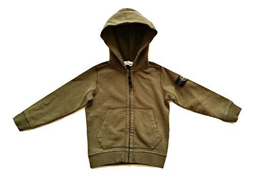 Stone Island Junior 691660640 - Sudadera con capucha para niño, color verde, 4 años