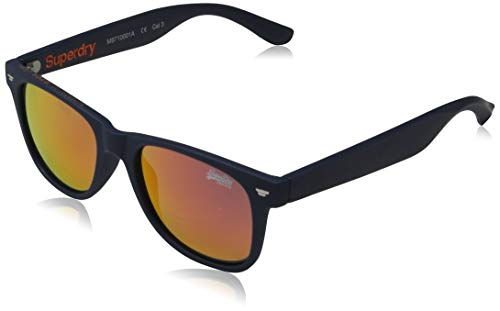 Superdry SUPERFARER Gafas de Sol, Rubberised Navy, OS para Hombre