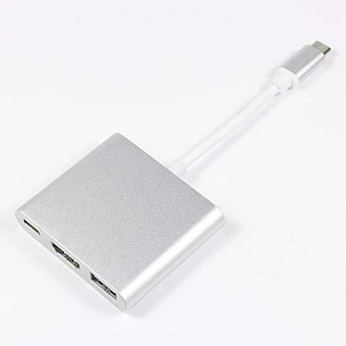 Pudincoco Portable Taille 1080P USB 3.1 Type-C /à DP Adaptateur USB-C /à DisplayPort Adaptateur Convertisseur C/âble pour Apple Macbook