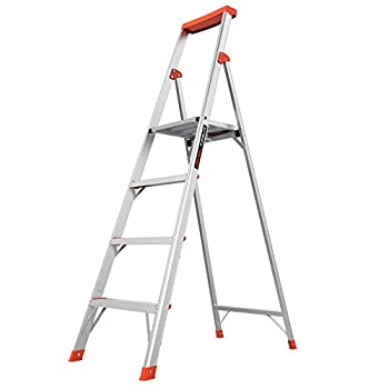Little Giant Ladders Flip-N-Lite 6-Foot Stepladder Aluminum Type 1A 300 lbs Rated  15270-001