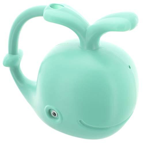 MIK Funshopping Gießkanne aus Kunststoff im lustigen Tier-Design, Volumen 1,5 Liter (Wal Petrol)