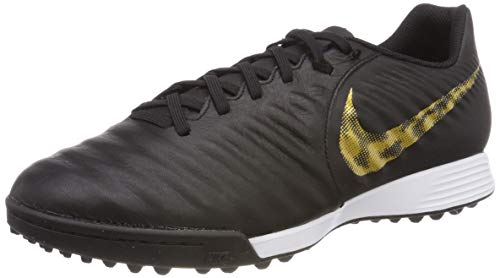 Nike Herren LegendX 7 Academy TF Fußballschuhe, Schwarz (Black/MTLC Vivid Gold 077), 44 EU