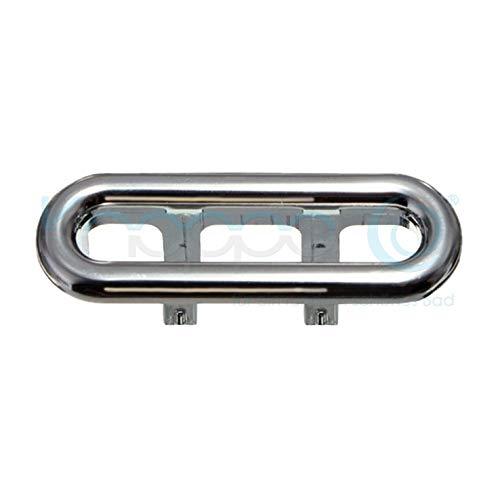 KNOPPO® Waschbecken Design Überlaufblende/Sink Overflow Cover - Pool 1 oval (chrom)
