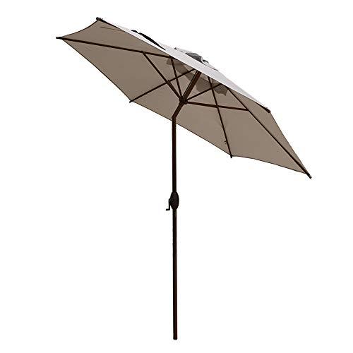 Abba Patio 9ft Patio Umbrella Outdoor Umbrella Patio Market Table Umbrella with Push Button Tilt and Crank for Garden, Lawn, Deck, Backyard & Pool, Beige